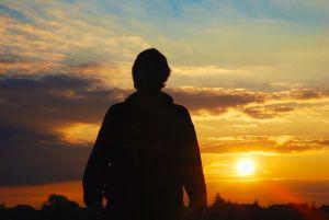 A-man-against-the-setting-sun-1088202-m